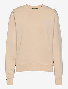 Bulky Crew - sweaters - beige logo