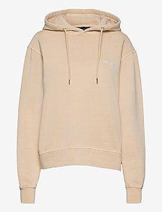 Bulky Hoodie - hoodies - beige logo