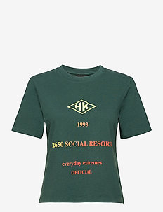 Artwork Tee - t-shirts - faded green