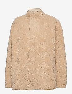 Track Fleece - mid layer jackets - sand logo