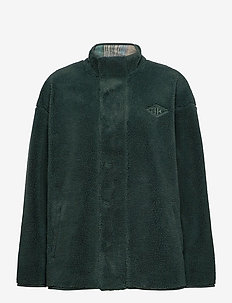 Track Fleece - mid layer jackets - dark green