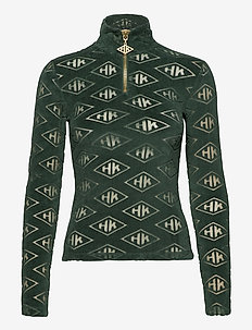 Half Zip Long Sleeve - sweaters - green