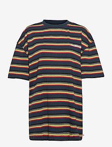 Boyfriend Tee - t-shirts - blue stripe