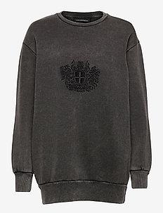 Relaxed Crew - sweatshirts - faded dark grey