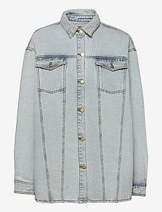 Boyfriend Shirt - overshirts - light stone wash