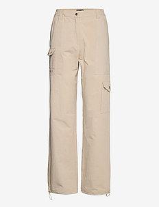 Cargo Track Pants - raka byxor - off white