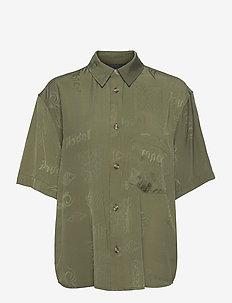 Drop Shirt - kortärmade skjortor - green tribal