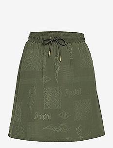 Track Skirt - korte rokken - green tribal