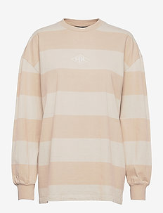 Boxy LS Tee - tops met lange mouwen - off white stripe