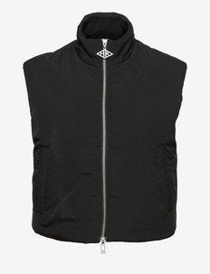 Padded Zip Vest - toppaliivit - black