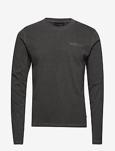 Casual Tee Long Sleeve - basic t-shirts - dark grey logo