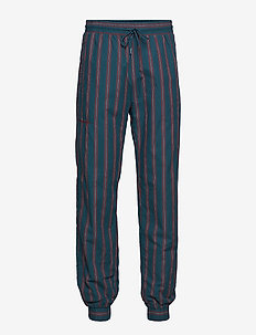 Track Pants - GREEN STRIPE