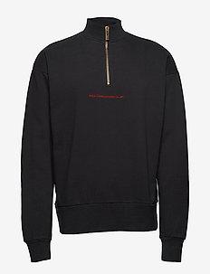 Half Zip Sweat - BLACK