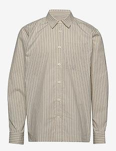 Boxy Shirt - BLUE PINSTRIPE