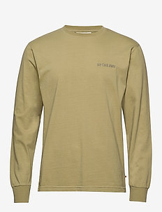Casual Long Sleeve Tee - basic t-shirts - sand logo