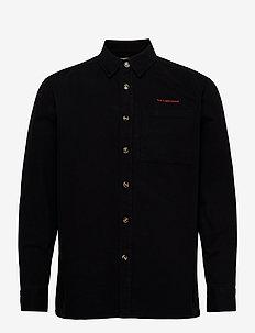 Boxy Shirt - avslappede skjorter - black twill