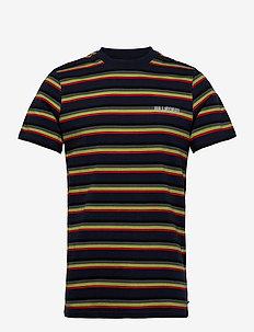Casual Tee - korte mouwen - blue stripe