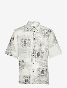 Boxy Shirt SS - oxford-paidat - bleach diamond