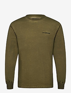 Casual Long Sleeve Tee - basic t-shirts - green crush