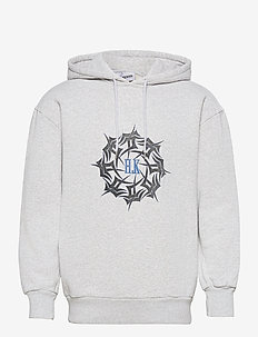 Artwork Hoodie - bluzy z kapturem - grey melange