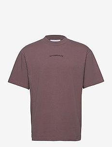 Boxy Tee - basic t-shirts - faded brown