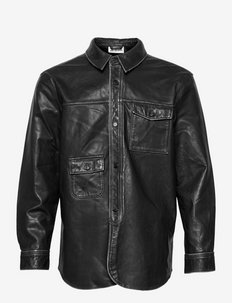 Army Shirt - chemises de lin - black leather