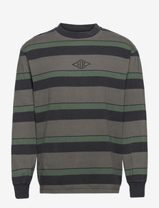 Boxy Tee Long Sleeve - långärmade t-shirts - dark tonal stripes