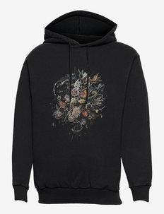 Artwork Hoodie - sweats à capuche - faded black
