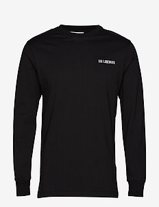Casual Long Sleeve Tee - basic t-shirts - black logo