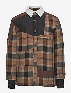 Coach Jacket - BROWN CHECK