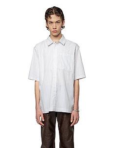 Boxy Shirt - kortärmade skjortor - pale stripe