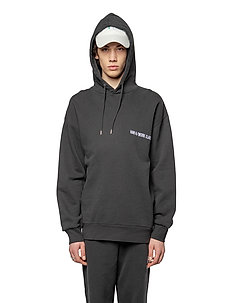 Artwork Hoodie - basic sweatshirts - black hk