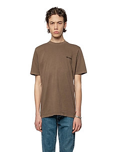 Casual Tee - basic t-shirts - brown logo