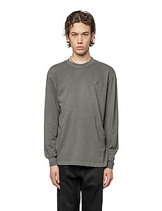 Casual Long Sleeve Tee - basic t-shirts - dark grey logo