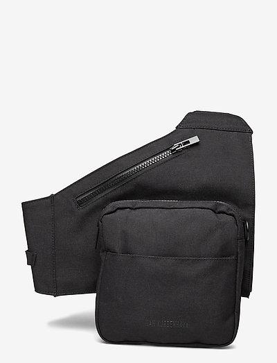 Triangle Bag - heuptassen - black cordura nylon