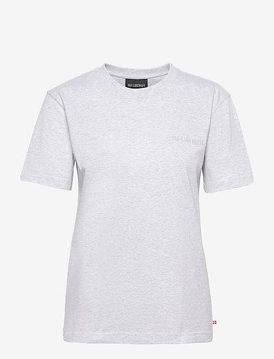 Casual Tee Short Sleeve - t-shirts - light grey melange logo
