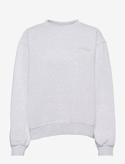 Bulky Crew - sweatshirts & hoodies - light grey melange logo