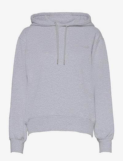 Bulky Hoodie - sweatshirts & hoodies - light grey melange logo