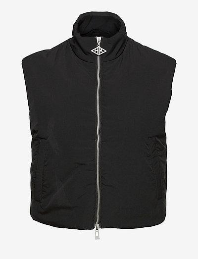 Padded Zip Vest - vadderade västar - black