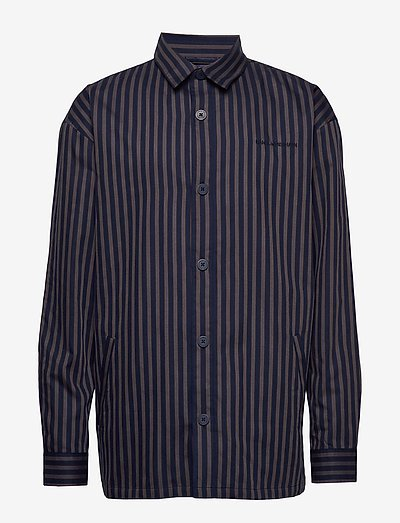 Shirt Jacket - hauts - navy stripe