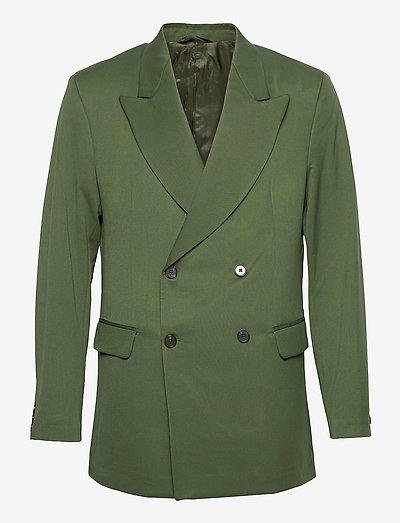 Boxy Blazer - costumes croisés - dark green