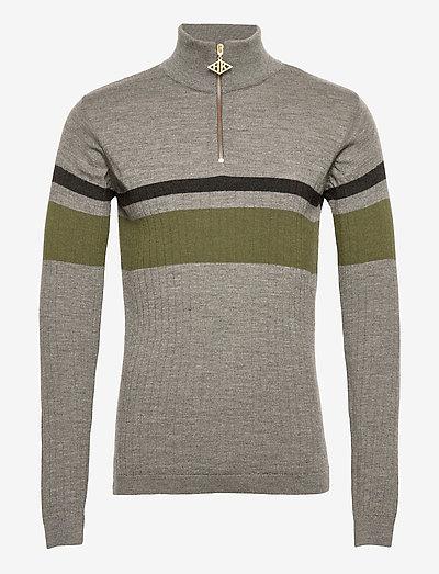 Half Zip Long Sleeve - truien met halve rits - grey