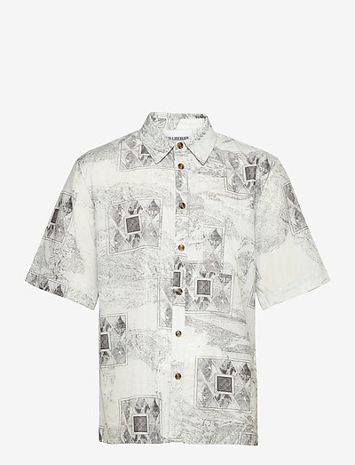 Boxy Shirt SS - oxford overhemden - bleach diamond