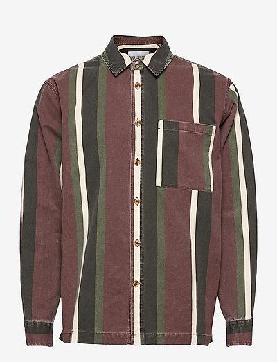 Boxy Shirt Long Sleeve - casual skjortor - dark stripe