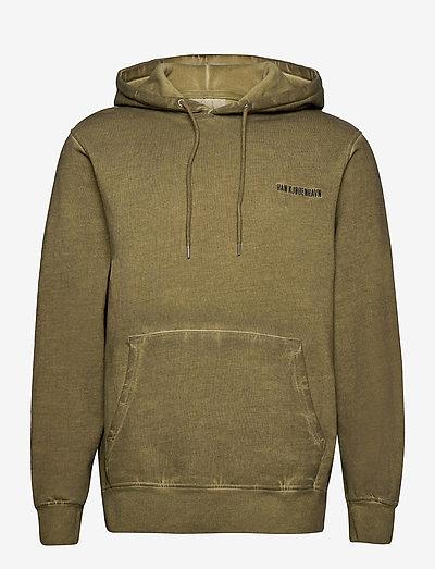 Casual Hoodie - basic sweatshirts - green crush