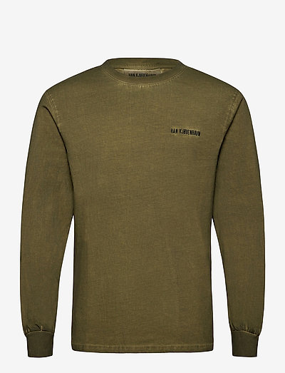 Casual Long Sleeve Tee - basic t-shirts - green crush