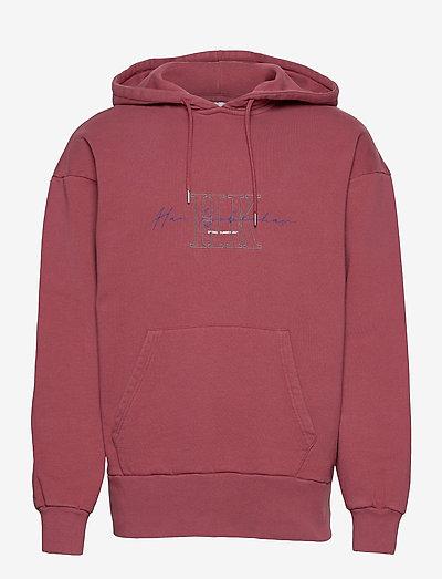 Bulky Hoodie - hoodies - faded dark red hk