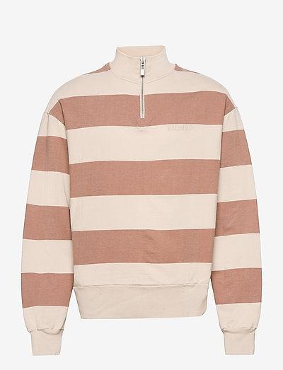 Half Zip Sweat - truien - off white stripe