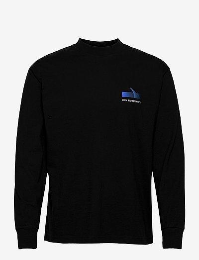 Boxy LS Tee - basic t-shirts - faded black