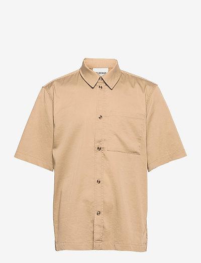 Boxy Shirt SS - linnen overhemden - olive grey